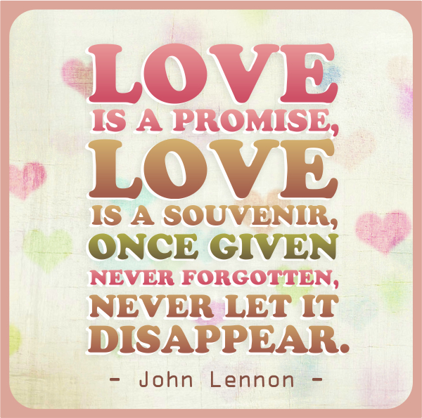 John Lennon - Love is a Promise