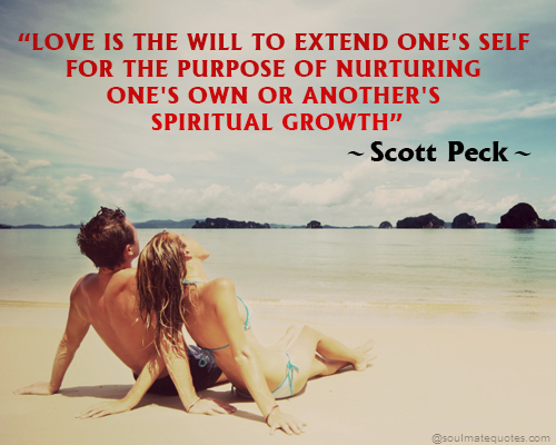 Love is the will to extend one's self for the purpose of nurturing one's own or another's spiritual